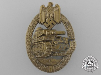 A Mint German Panzer/Tank Badge Bronze Grade