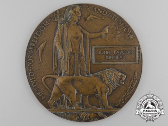 A Memorial Plaque to Major John Lawson Kinnear, D.S.O., M.C., Royal Flying Corps
