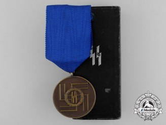 An SS Eight Year's Faithful Service Award in its Original Case of Issue