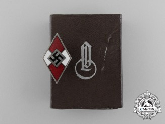 A HJ Membership Badge by Fritz Zimmermann in its Original Case of Issue