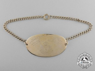 Canada, CEF. A Gold ID Bracelet of to Canadian Nursing Sister Edith Martha York