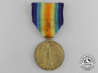 A First War Victory Medal to Air Mechanic 1st Class B. Hames, Royal Air Force