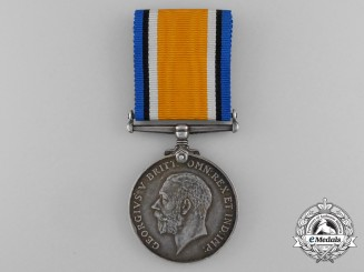 A British War Medal to Corporal L.J. Kirkby; Royal Air Force