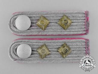 A Matching Pair of Wehrmacht Panzer Hauptmann Shoulder Boards