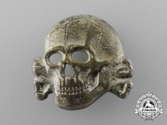 A Second Pattern (1934-1945) Waffen-SS Visor Skull by Zimmermann