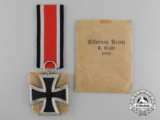 An Iron Cross 1939 Second Class in its Original Packet of Issue
