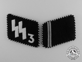 A Set of Waffen-SS Der Führer Regiment Sturmmann Rank Collar Tabs (pre-1940); RZM Tagged