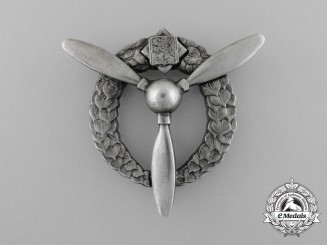 Czechoslovakia. A Flight Mechanic and Ground Air Mechanic Badge in Silver, c.1941