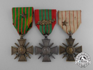 Three French World War Crosses