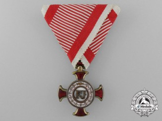 A First War Austrian Merit Cross; 3rd Class by V.Mayer (1914-1918)