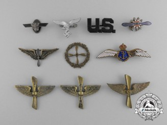 A Grouping of International Aviation Pins