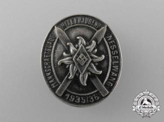 A 1935/36 HJ Nesselwang Garrison Ski Badge
