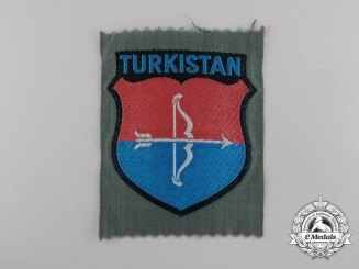 A Rare Turkestan Volunteers Wehrmacht Arm Shield