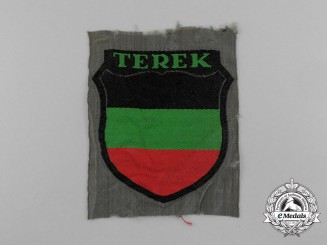 A Terek Volunteers Wehrmacht Arm Shield