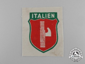 An Italian Volunteers Wehrmacht Arm Shield