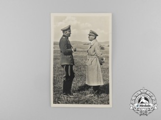 A Picture Postcard Depicting A.H and Generalfeldmarschall Werner von Blomberg