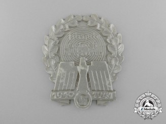 A 1940-1941 German Paramilitary Shooting Award; Silver Grade