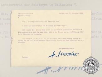 A 1935 Letter from Reichsführer-SS Heinrich Himmler
