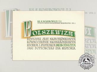 A Polish Anti-Communist Propaganda poster by Catholic Priest Edward Kosibowicz