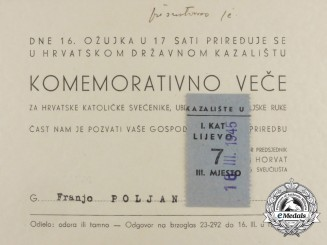 An Invitation for Commemorative Evening Dedicated to Killed Catholic Priests