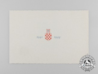 An Official Invitation for 3d Year of NDH, 1941-1944