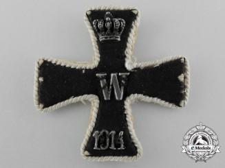 A Scarce First War Embroidered Iron Cross 1st Class
