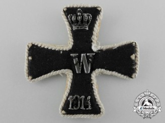 Germany, Imperial. An Embroidered Iron Cross, I Class