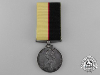 A Queen's Sudan Medal to Private A. King; 2nd Battalion Rifle Brigade