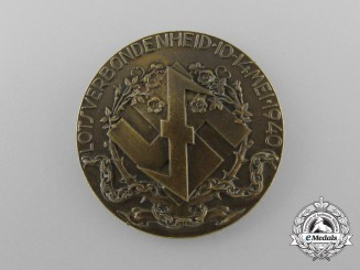 A 1940 Dutch National Socialist Movement (NSB) Lotsverbondenheid Medal