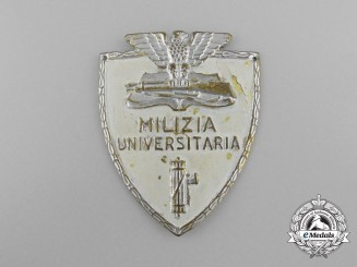 Italy. A University Militia Fascist Membership Badge