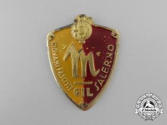 An Italian Youth of Salermo Fascist Membership Badge