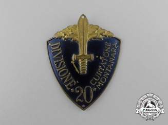 An Italian 20th Infantry Division Curtatone and Montanara Badge