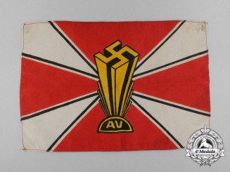 A Scarce German American Bund Table Flag