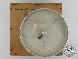A Cased 1942 Issue Kriegsmarine Bulkhead Aneroid Barometer by Lufft Metallbarometerfabrik GmbH