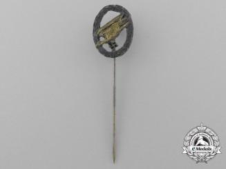 A Miniature Luftwaffe Fallschirmjäger Parachutist Badge Stickpin