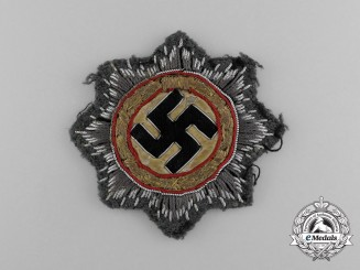 An Army German Cross in Cloth, Rare Version with Embroidered Golden Wreath