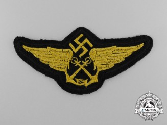 A Mint Luftwaffe Navy Pilot/Civilian Employee Cap Badge