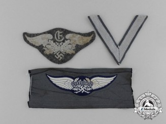 A Lot of Three Luftwaffe Cloth Insignia