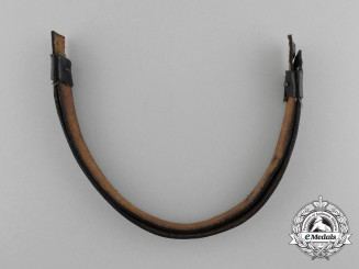 A German Second War NCO's Visor Cap Leather Chinstrap