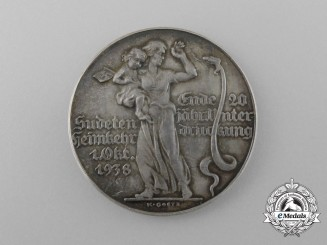 A German Commemorative Medal for the Liberation of the Sudetenland by K. Goetz
