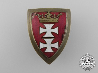 A Scarce Danzig Freikorps-Shield for Faithful Service