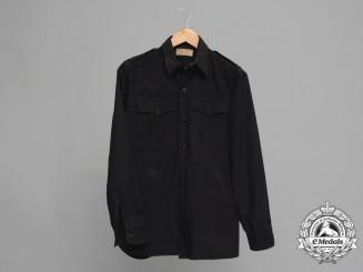 A Rare SS Black Panzer Service Shirt