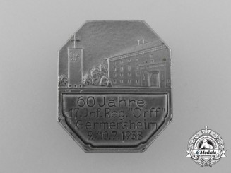 A 1938 Germersheim 60 Years of the 17th Infantry Regiment