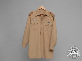 Germany, Luftwaffe. A Tropical Artillery Pull Over Shirt