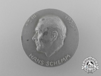 A 1935 District Leader Hans Schemm Memorial Badge