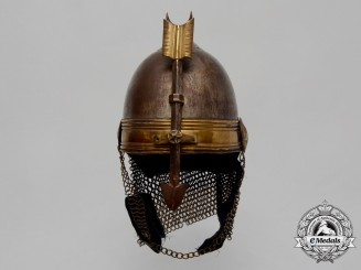 "A Rare Mid 1800's Ottoman-Egyptian Khedive's ""Iron Men"" Bodyguard Helmet by Wilkinson & Co."