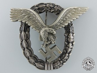 An Early Luftwaffe Pilot's Badge byGebrder Wegerhof, Ldenscheid
