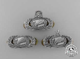 Three American Air Force Support Career Group Administration Badges