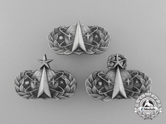 Three American Air Force Space and Missile Badges