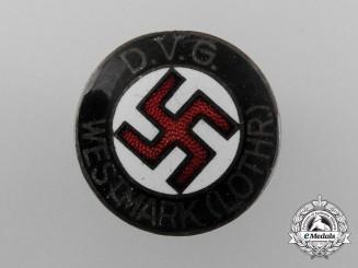 A Deutscher Volksgenossen Bund (DVG) Westmark Membership Badge by Fritz Mannheim